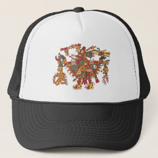 Aztec god trucker hat