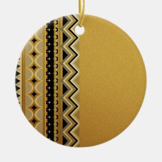 Aztec I Round Ceramic Ornament
