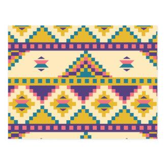 Aztec in Purple Postcard