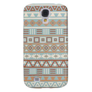 Aztec Influence Pattern Blue Cream Terracottas