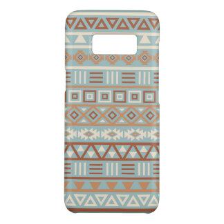Aztec Influence Pattern Blue Cream Terracottas Case-Mate Samsung Galaxy S8 Case