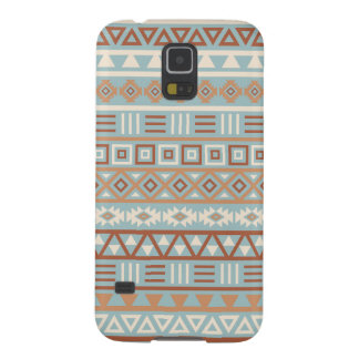 Aztec Influence Pattern Blue Cream Terracottas Galaxy S5 Cases