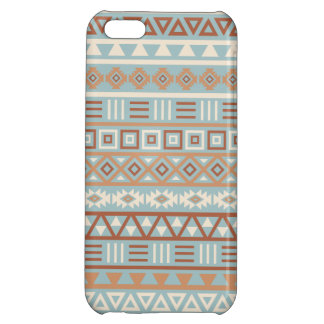 Aztec Influence Pattern Blue Cream Terracottas iPhone 5C Cover