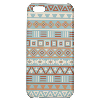 Aztec Influence Pattern Blue Cream Terracottas iPhone 5C Covers