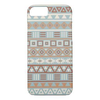 Aztec Influence Pattern Blue Cream Terracottas iPhone 8/7 Case
