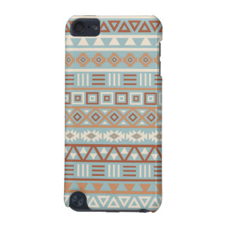 Aztec Influence Pattern Blue Cream Terracottas iPod Touch (5th Generation) Cover