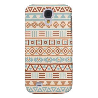 Aztec Influence Pattern Cream Blue Terracottas