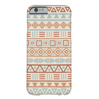 Aztec Influence Pattern Cream Blue Terracottas Barely There iPhone 6 Case