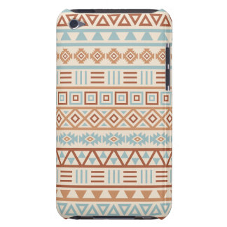 Aztec Influence Pattern Cream Blue Terracottas Barely There iPod Case
