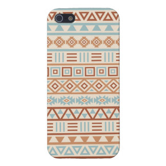 Aztec Influence Pattern Cream Blue Terracottas Case For iPhone 5/5S
