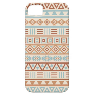 Aztec Influence Pattern Cream Blue Terracottas Case For The iPhone 5