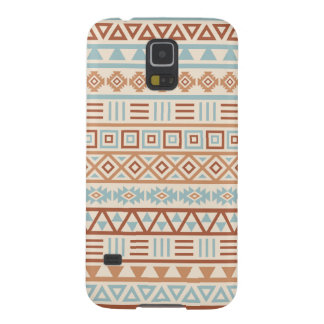 Aztec Influence Pattern Cream Blue Terracottas Cases For Galaxy S5