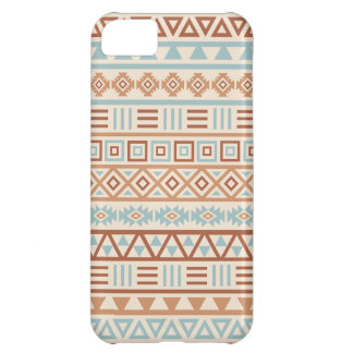 Aztec Influence Pattern Cream Blue Terracottas iPhone 5C Covers