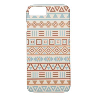 Aztec Influence Pattern Cream Blue Terracottas iPhone 8/7 Case