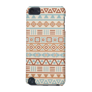 Aztec Influence Pattern Cream Blue Terracottas iPod Touch (5th Generation) Cover