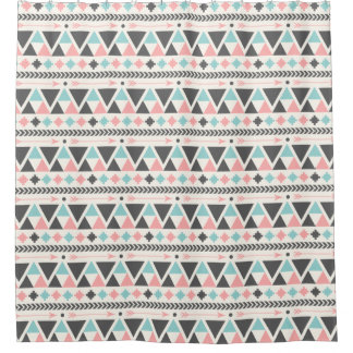 Aztec Inspired Coral and Mint Pattern