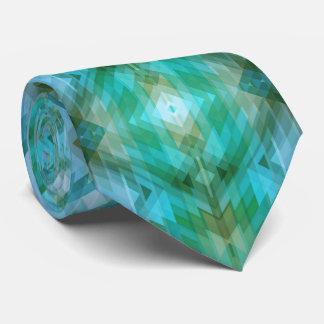 Aztec Inspired Geometric Pattern Design Tie