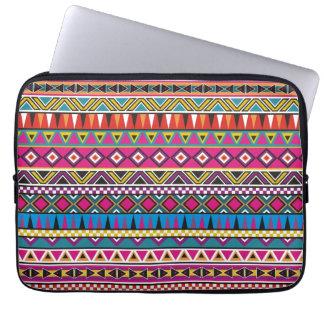 Aztec inspired pattern laptop sleeve