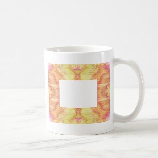 Aztec-like frame coffee mugs