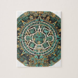 Aztec Mayan Ancient Round Disc Calendar Jigsaw Puzzle