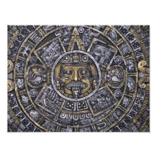 Aztec / Mayan Calendar Poster