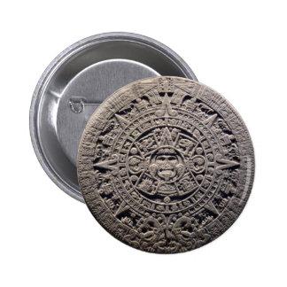 Aztec MAYAN CALENDAR Stone - December 21, 2012 2 Inch Round Button