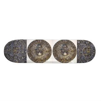 Aztec Mayan Calendar With Skull Skateboard