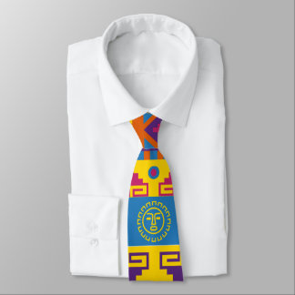 Aztec Mexican abstract pattern Tie