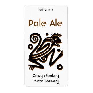 Aztec Monkey Home brewed beer Labels