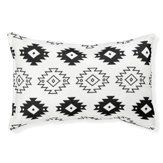 Aztec Monochrome Modern Dog Bed