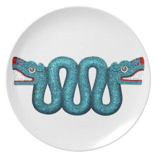Aztec Mosaic Serpent Plate