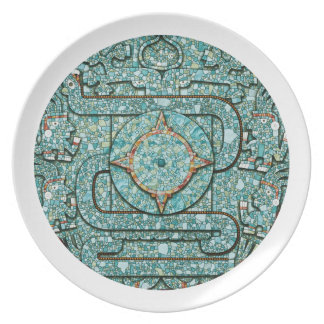 Aztec Mosaic Shield Plate