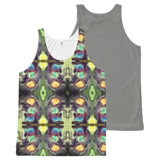 Aztec Mountain All-Over-Print Tank Top