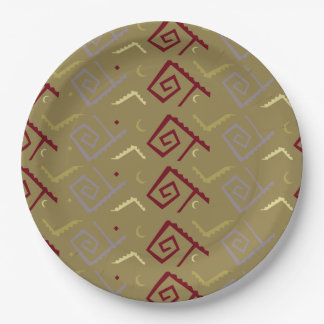 Aztec Native American Design Paper Plate