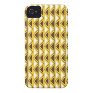 Aztec Native American Tribal Gold Brown Triangles iPhone 4 Case-Mate Case