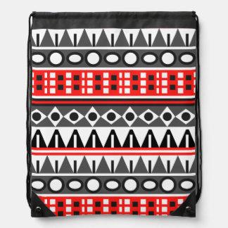 Aztec native pattern drawstring bag