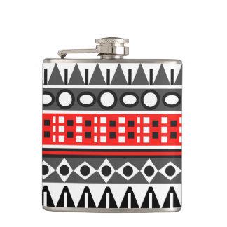 Aztec native pattern hip flask