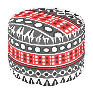 Aztec native pattern pouf