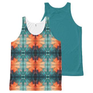 Aztec Orange Sun All-Over-Print Tank Top