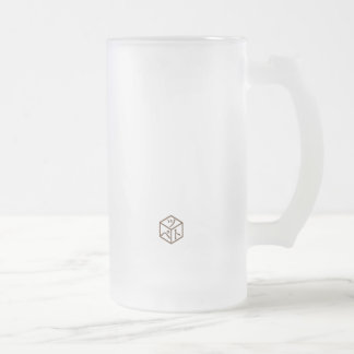 Aztec Owl Frosted Glass Beer Mug