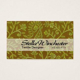 Aztec Pais Textile Designer Fabric Design Business Card