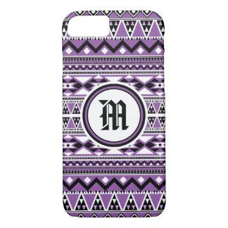 Aztec Pattern BDPurpleW (Personalize Monogram) Case-Mate iPhone Case
