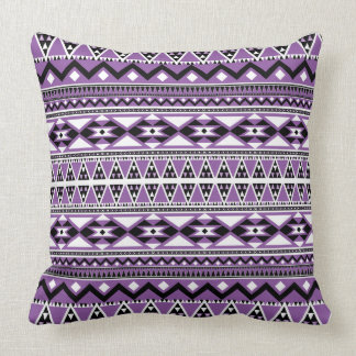 Aztec Pattern BDPurpleW Throw Pillow