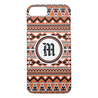 Aztec Pattern BOW (Personalize Monogram) iPhone 8/7 Case