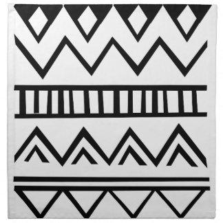 Aztec pattern cloth napkin