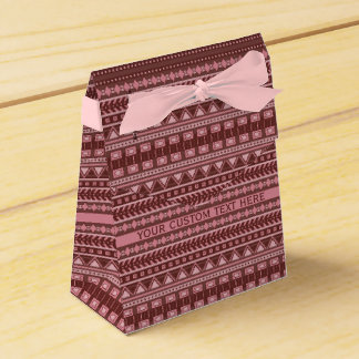 Aztec Pattern custom favor boxes