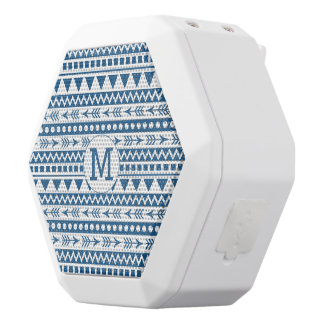 Aztec Pattern custom monogram bluetooth speakers