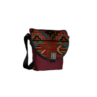 Aztec Pattern Messenger Bag