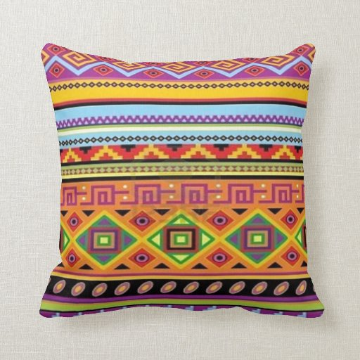 Aztec Pattern Popular Affordable Design Throw Pillow