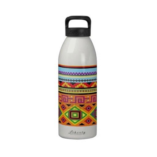 Aztec Pattern Popular Affordable Design Reusable Water Bottles